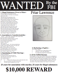 Wanted Poster Condemning Friar Lawrence